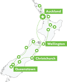 Epic NZ Tour map