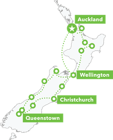 Legendary NZ Tour  map