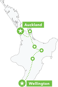 North Island Adventure Tour map