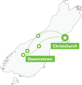 South Island Lick Tour map