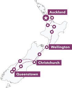 New Zealand Uncovered map