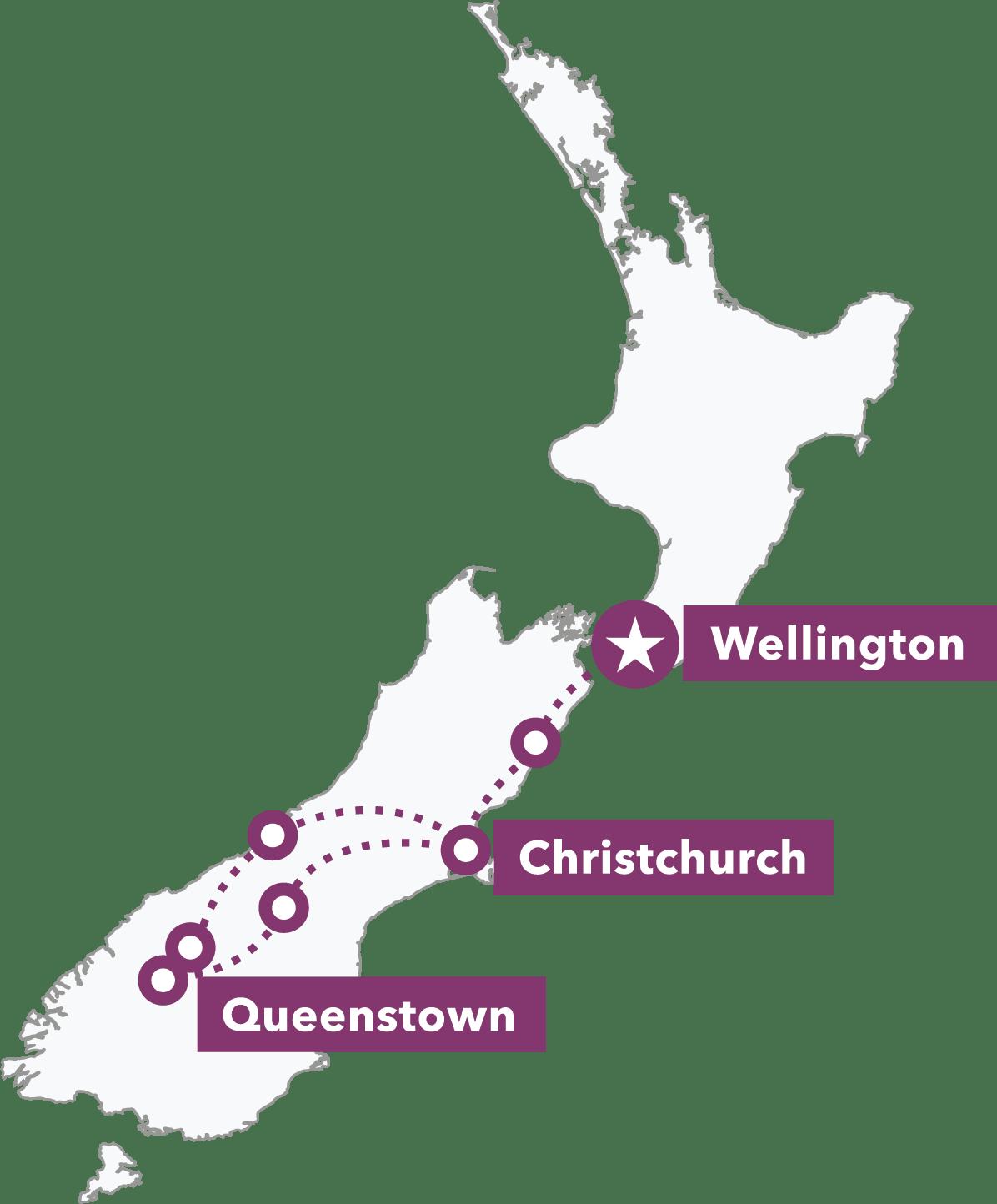 Southern Explorer map