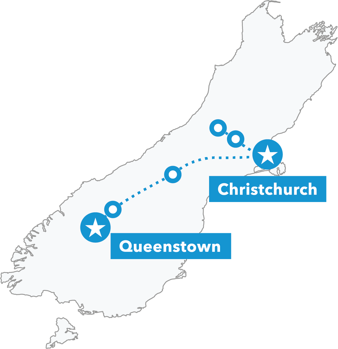 South Island Snow Odyssey map