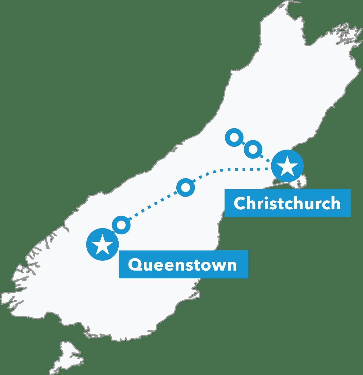 South Island Snow Odyssey map