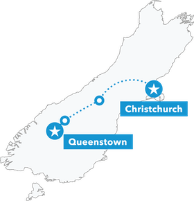 South Island Snow Safari map