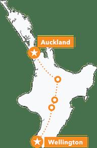 North Island Trail Hunter MTB Tour map