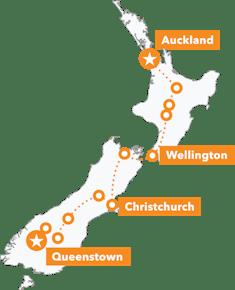 NZ MTB Dreamer Tour map