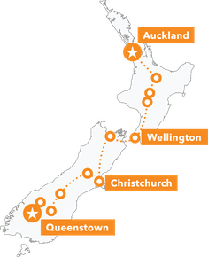 NZ MTB Dreamer Tour map