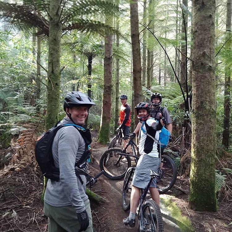 Riding in Rotorua's (Redwoods) Whakarewarewa Forest