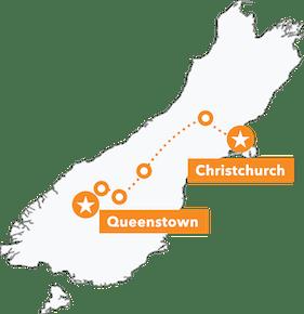 South Island Dirt Seeker MTB Tour map