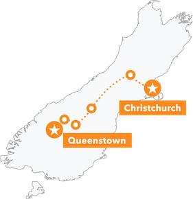 South Island Dirt Seeker MTB Tour map
